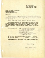 Letter requesting service medals that had not been received.