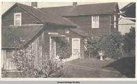 Communal residence view from backyard, Amana, Iowa, 1900s