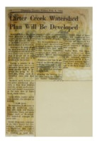 1966 - Carter Creek Watershed Plan will be Developed