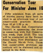 Conservation tour for ministers in June.