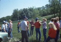 Group participating in a outdoor classroom.