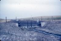 Drop spillway notch on the Weir farm.