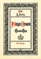 Columbia College: Kings Crown Bookplate