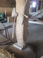 010.  Cement base and support beam