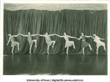 Line of dancers performing, The University of Iowa, 1926
