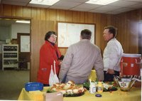 1996 - Joyce Stafford, Bill Walker and Frank Hedges talk at open house