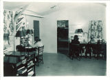 Studying in student housing, the University of Iowa, fall 1948