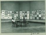 Art exhibited in the Art Building, the University of Iowa, 1930s?
