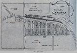 Lakonta, IA, 1913 map; West Des Moines Township; Mahaska County; Iowa