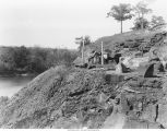 Base of Redrock Bluff at the east end of Redrock Quarry, Iowa, late 1890s or early 1900s