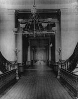 First floor north-south corridor, circa 1885.