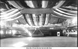 Interior of Armory decorated for a dance, The University of Iowa, April 2, 1910