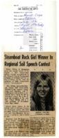 Steamboat Rock girl winner in regional soil speech contest.