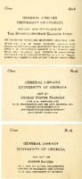University of Georgia Library, various memorial bookplates.