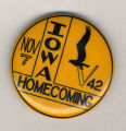 Homecoming badge, November 7, 1942
