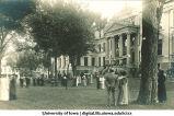 Class reunion by Schaeffer Hall, The University of Iowa, 1900s