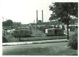 Rows of trailers in Hawkeye Village, the University of Iowa, Aug. 1947