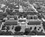 Pentacrest, downtown, The University of Iowa, 1948 or 1949