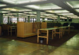 Card catalog being dismantled for move to second floor, 1994