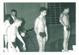 High school swimmers at meet, The University of Iowa, March 1967