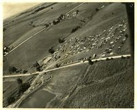 1948 - Field Day Aerial view looking north and west over  headquarters food tent and parking area
