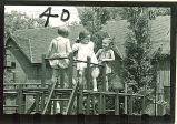 Girls on playground equipment, The University of Iowa, 1940s