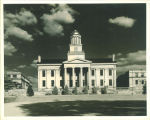 West portico of the Old Capitol, The University of Iowa, 1945