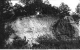 Contact of Carboniferous with Devonian showing unconformity, Iowa City, Iowa, late 1890s or early 1900s