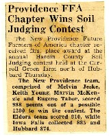New Providence FFA wins first in soil judging contest.