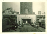 Fireplace in the Hutchinson House, the University of Iowa, 1927