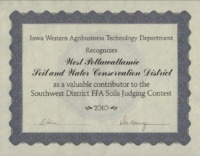 Soil Judging Contest Award - 2010.