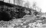 Quarry in Devonian Limestone, near Iron Bridge, northwest of North Liberty, Iowa, late 1890s or early 1900s