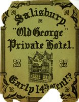 Old George Private Hotel Bookplate