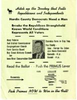 Hardin County Democrats announce Paul Primus.