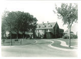 Main entrance to Psychopathic Hospital viewed from southeast, The University of Iowa, 1931