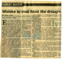 Mistake To Treat Flood Like Drought