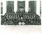 Scottish Highlanders in front of Old Capitol, The University of Iowa, 1960