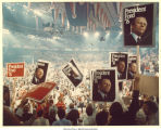 Delegates holding Pres. Ford signs at the Republican National Convention, Kansas City, Mo., August 1976