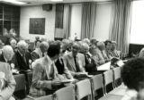 A gathering of alumni at Homecoming, 1970
