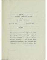 0128 Des Moines Women's Club Minutes 1952-1954