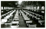 State Gymnasium serving as a temporary hospital for soldiers ill with the Spanish influenza, 1918