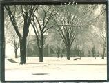 Old Capitol winter scene, The University of Iowa, 1930