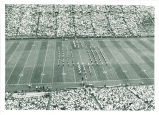 Marching band formation at Iowa vs. Oregon State football game, The University of Iowa, September 24, 1968