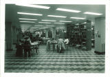 Main Library bookstacks and study area, the University of Iowa, March 1952