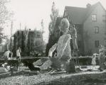 Alpha Chi Pho house lawn display,  Homecoming, 1950