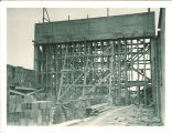 Construction of the proscenium of the Theatre Building, the University of Iowa, 1935