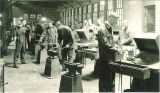 Student working in forging shop, The University of Iowa, 1930s?