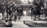 The Oskaloosa Town Square Bandstand, dedicated in 1912