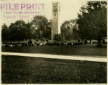 Jack Trice funeral on central campus, October 9, 1923