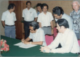 Signing the Indonesian Project Contract